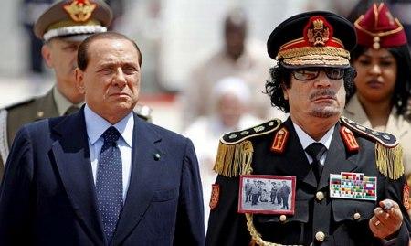 Gaddafi und Berlusconi