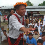 Eduardo Nayap Kinin an einer Wahlkampfveranstaltung